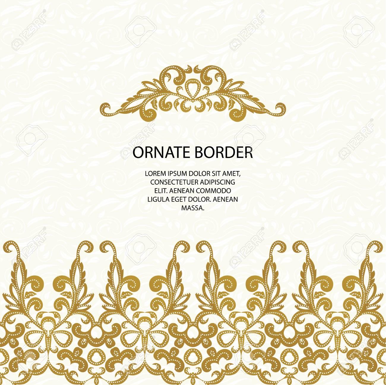 Bordes Decorativos Y Sin Fisuras Patrón Clásico La Página De Diseño Gráfico Invitación De Boda Plantilla Para Tarjetas De Felicitación