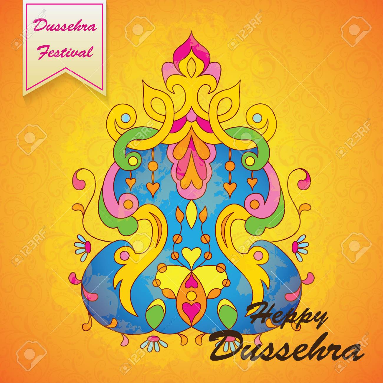 Dussehra festival backgroundeeting card for dussehra celebration dussehra festival backgroundeeting card for dussehra celebration in india stock vector 63810255 kristyandbryce Choice Image