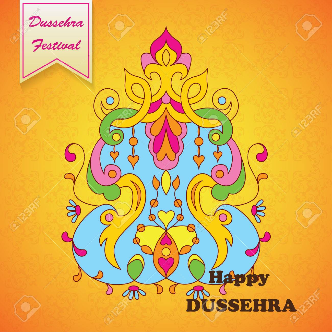 Dussehra festival backgroundeeting card for dussehra celebration dussehra festival backgroundeeting card for dussehra celebration in india stock vector 63810257 m4hsunfo