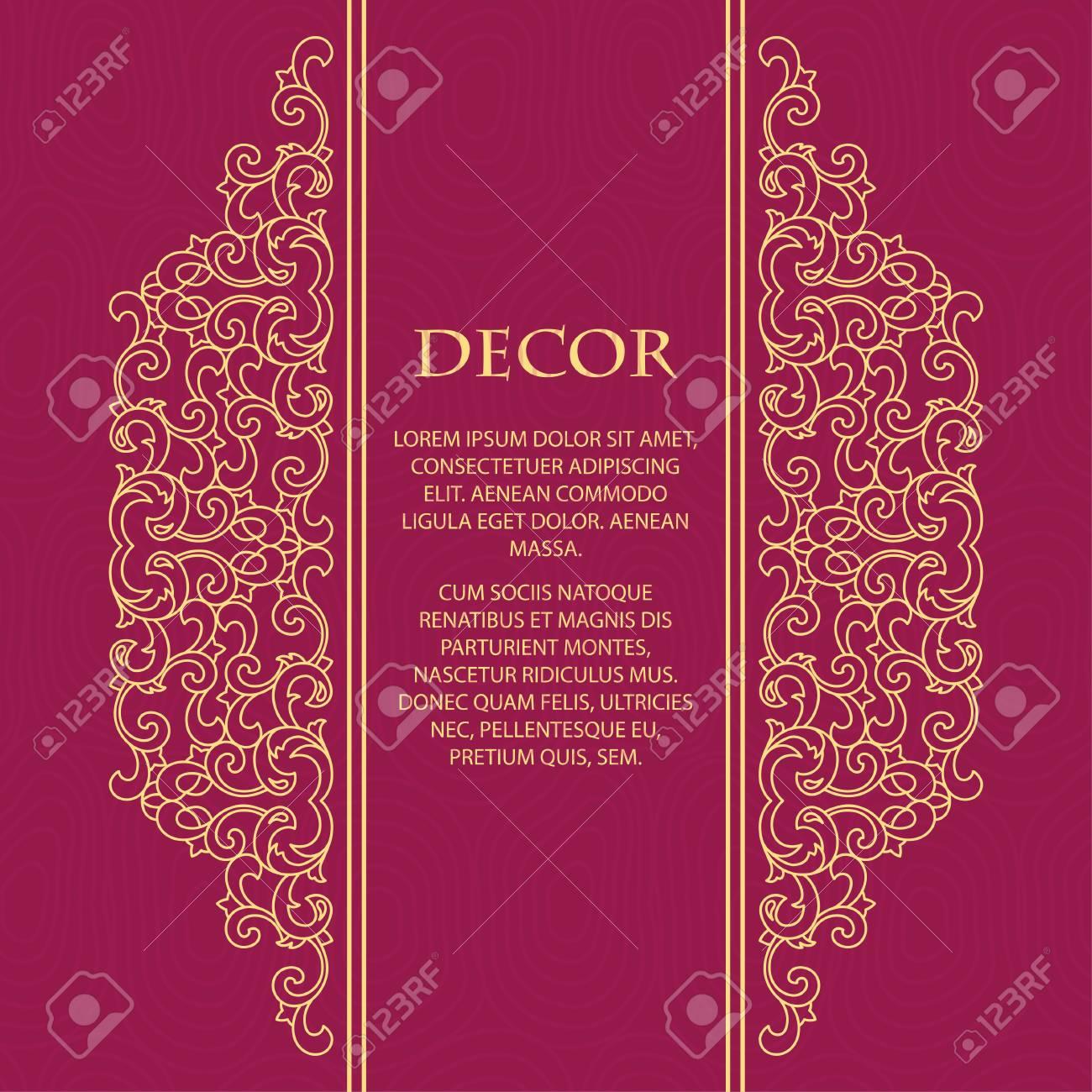 Vector Decorative Frame. Elegant Element For Design Template ...