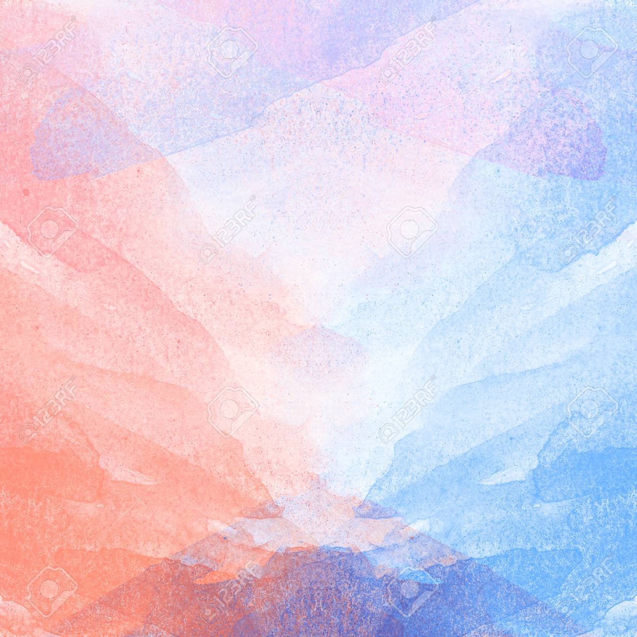 Abstract Colorful Watercolor Painting Texture Background For Stock