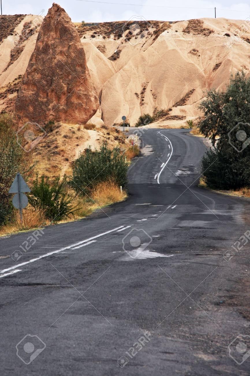 High mountains winding asphalt road Stock Photo - 4594010