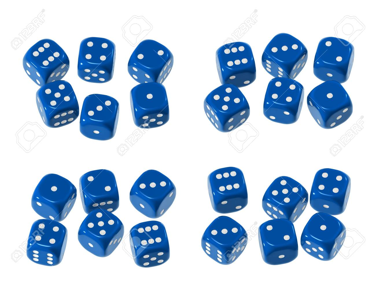 Blue shiny plastic-like with white pips - isolated Stock Photo - 4942454