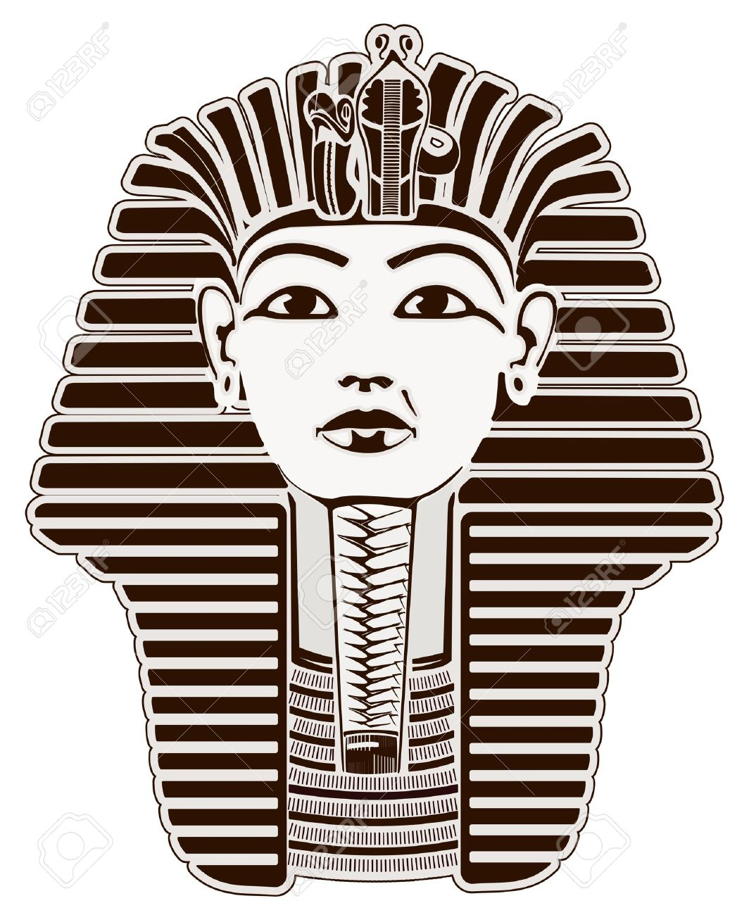 Tutankhamun  Pharaoh outline Stock Photo - 8915237