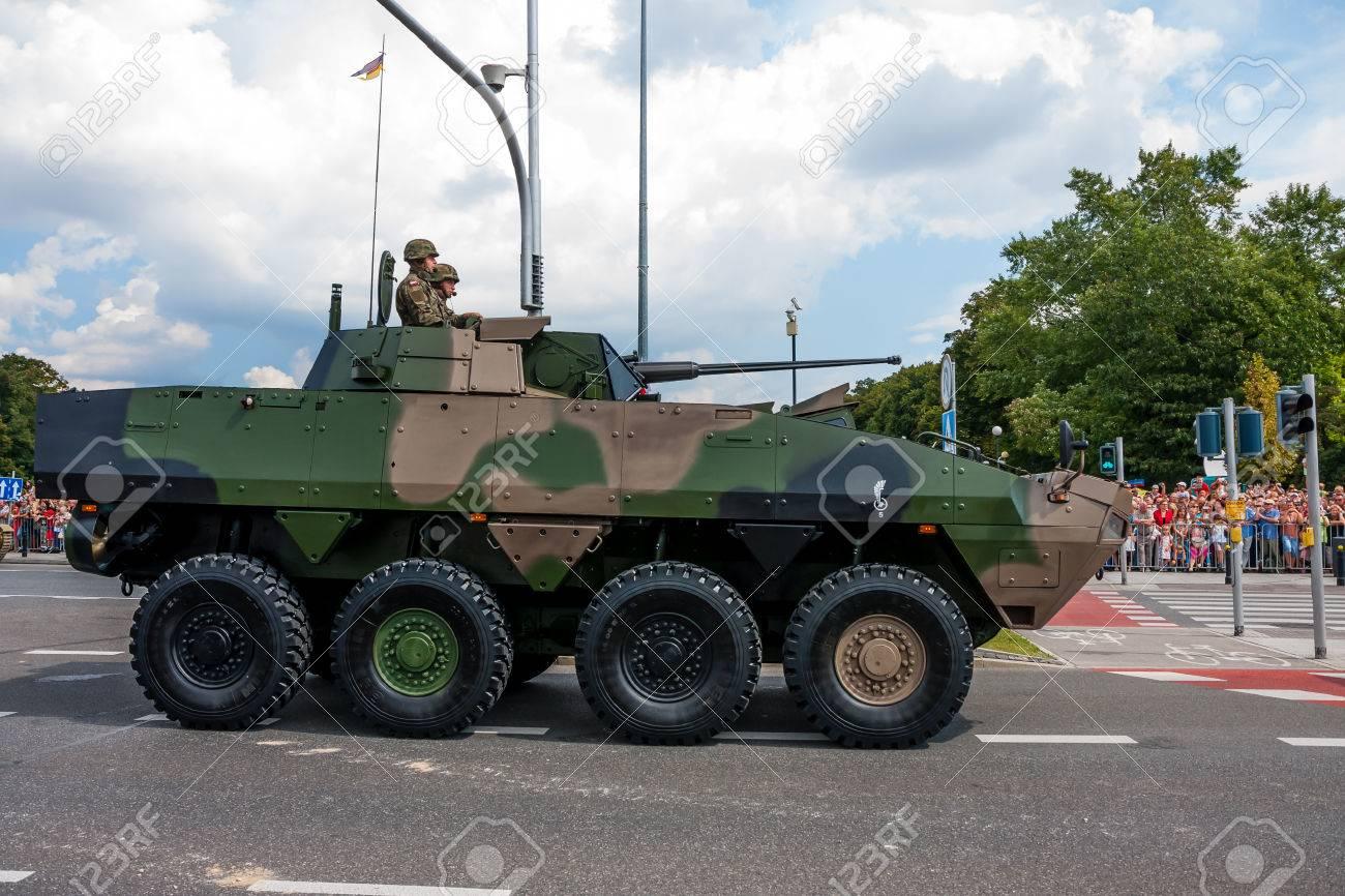 WARSAW City, POLAND Rosomak - Wheeled Armored Vehicle - 30884084
