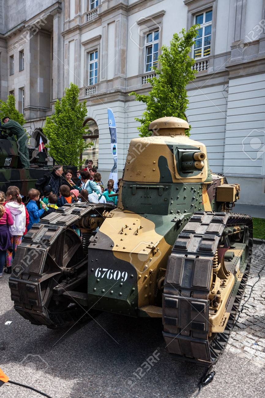 Tank Renault Ft 17 Tracked Armoured Vehicle Stock Photo Picture And