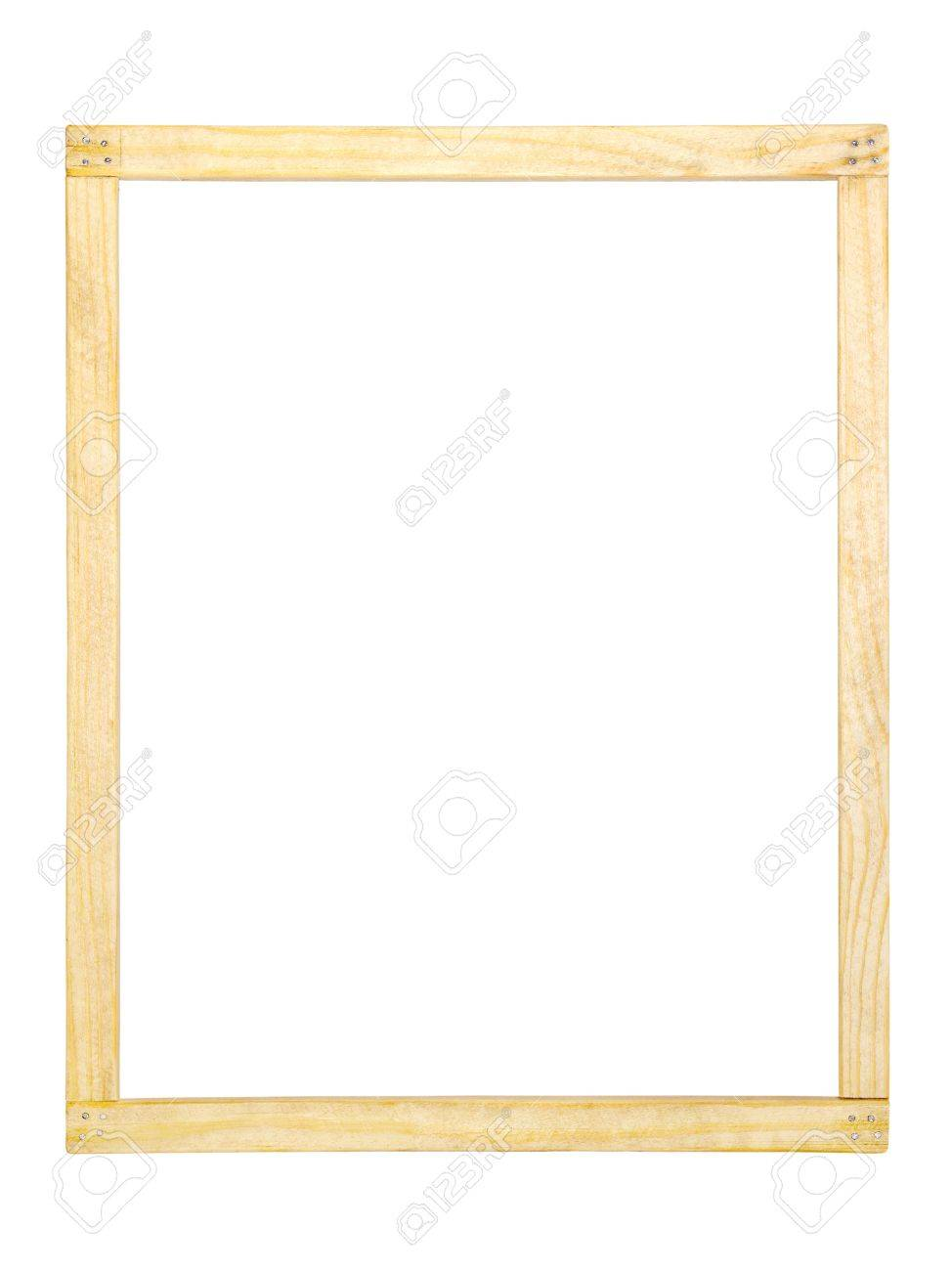 Simple Homemade Wooden Frame On White Background Stock Photo ...