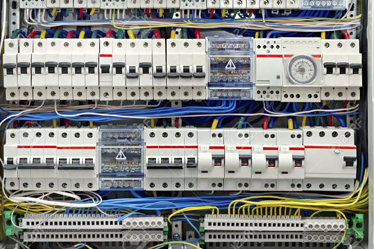 Electrical Panel With Fuses Closeup Stock Photo, Picture And Royalty ...