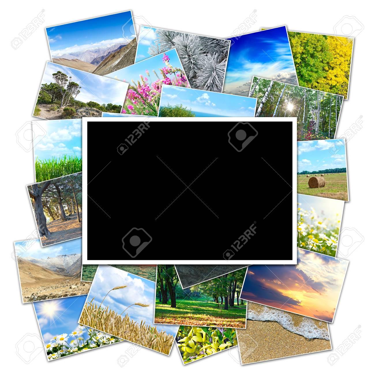 Rahmen Für Ein Foto Auf Dem Hintergrund Bild Von Der Natur Des ...
