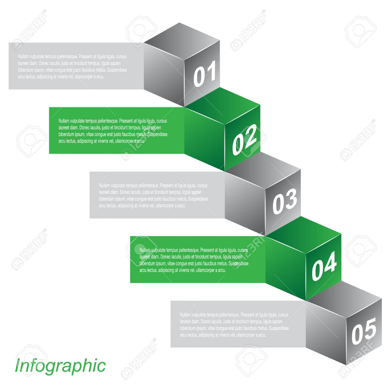 Info-graphic design templates in the form of a 3D box  Idea to