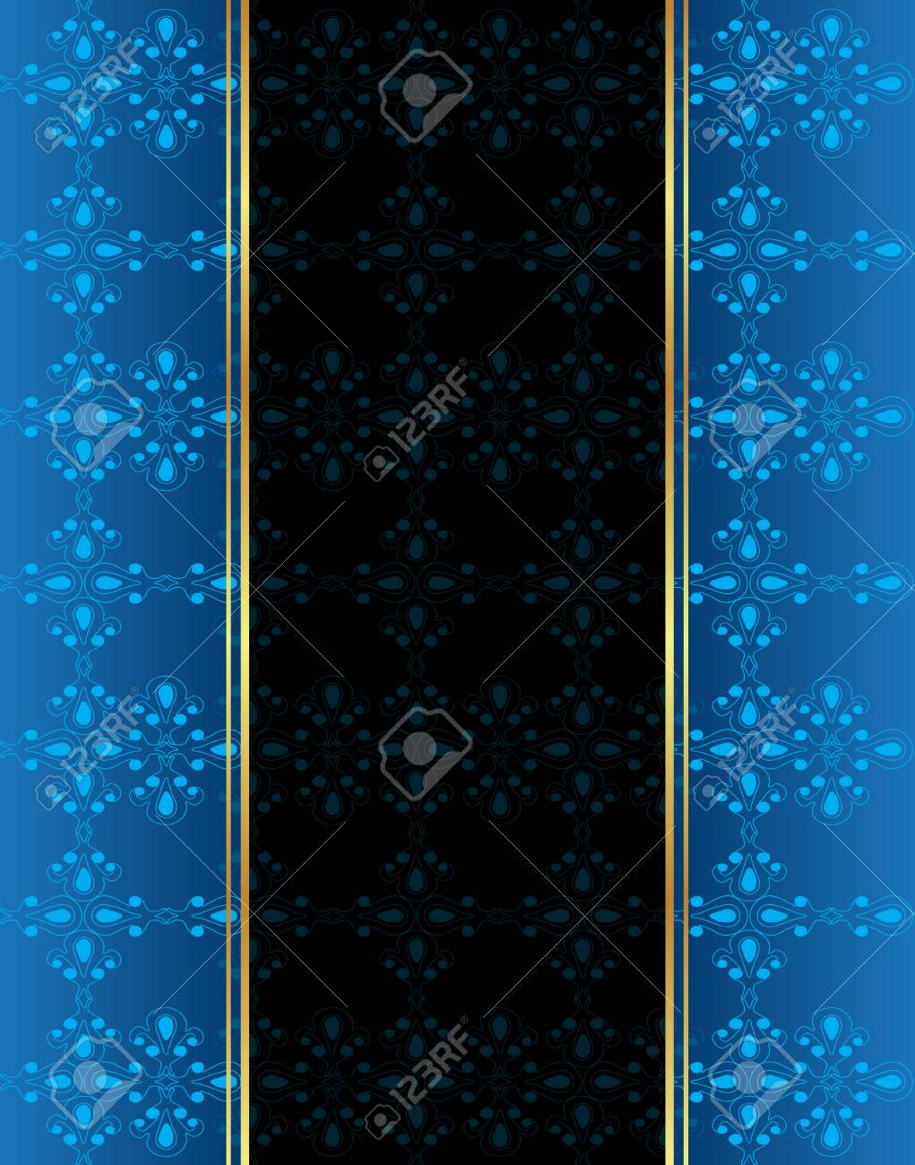 Seamlessly Wallpaper With Dark Blue Color Tones Royalty Free