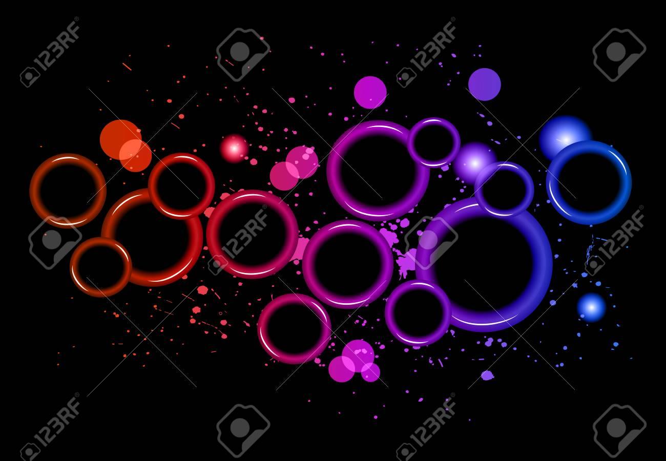 Resumen Círculos Brillantes De Luz Con Los Colores Del Arco Iris ...