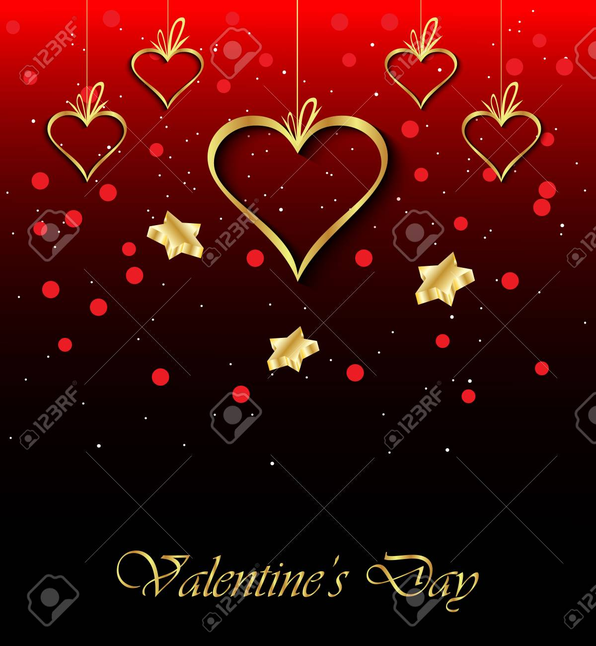 Happy Valentines Day Invitation On The Dinner Background For