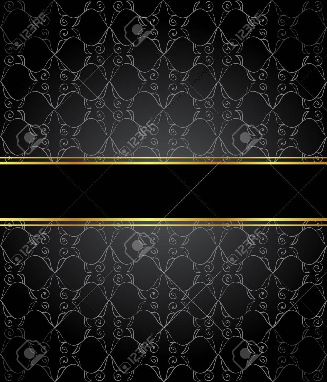 84854747 elegante tapete mit goldener feiner dekoration und platz f%C3%BCr ihren text layout mit platz f%C3%BCr klassische einlad - Elegante Tapete