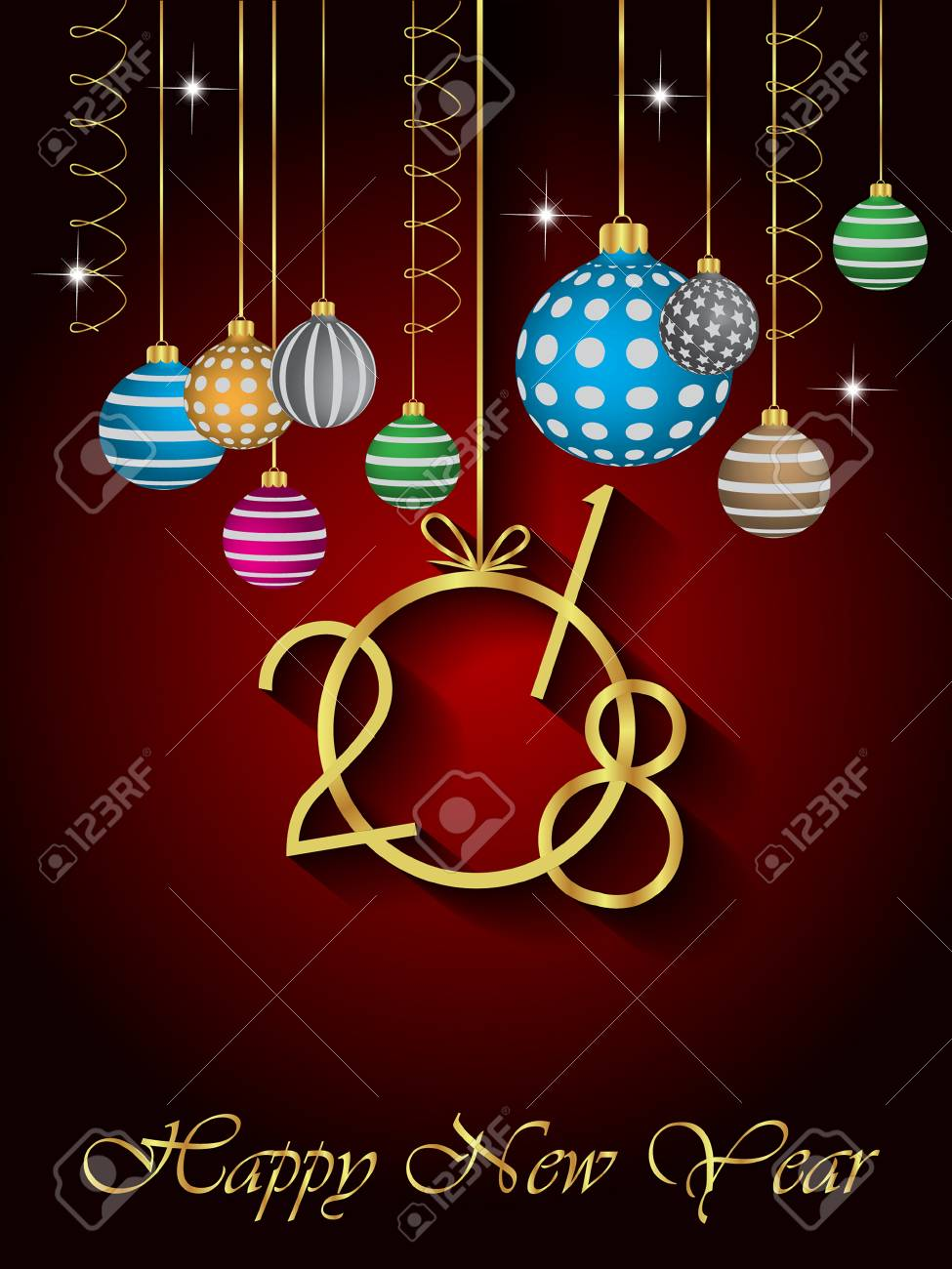 2018 happy new year background stock vector 85752153
