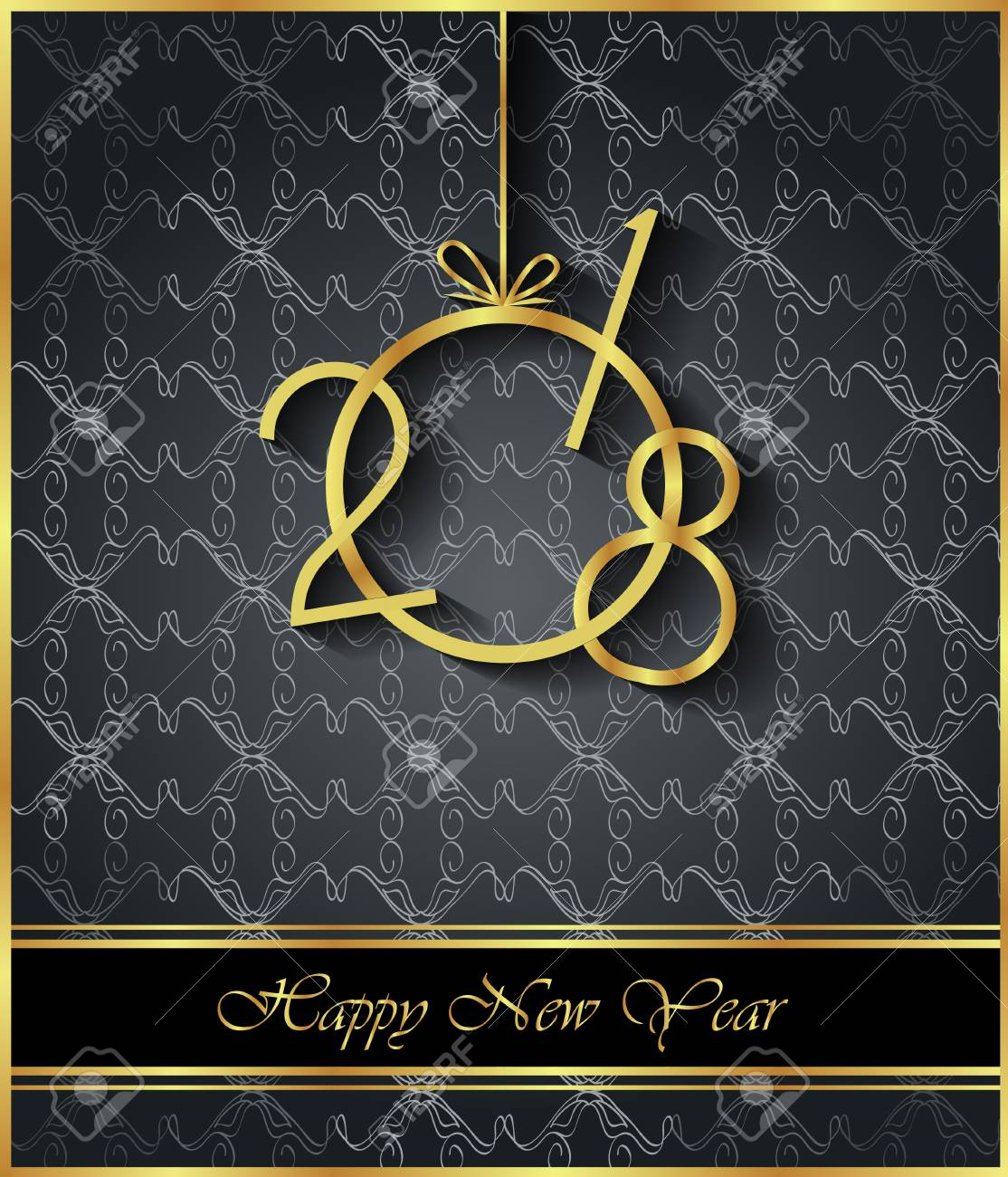 2018 happy new year background for your invitations festive posters greetings cards stock
