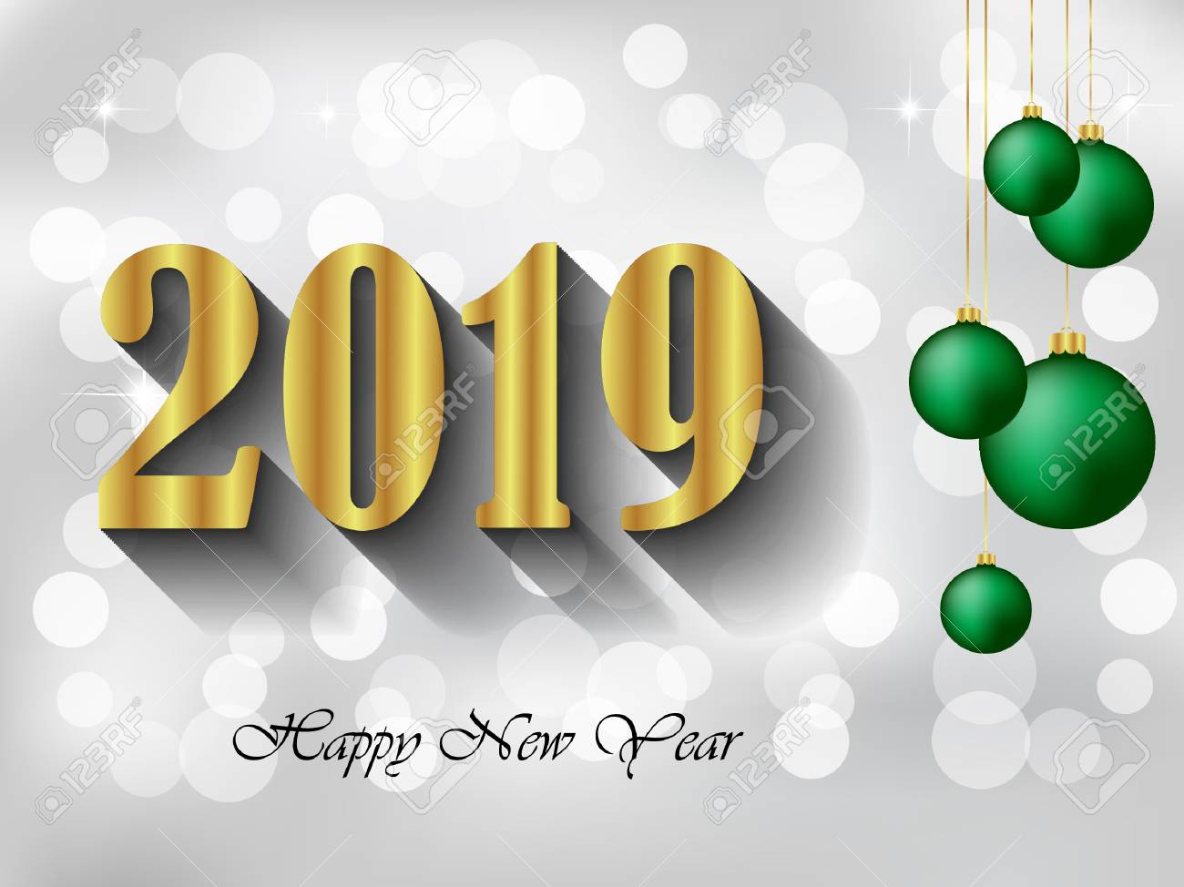 2019 Happy New Year Background For Your Invitations Festive Posters