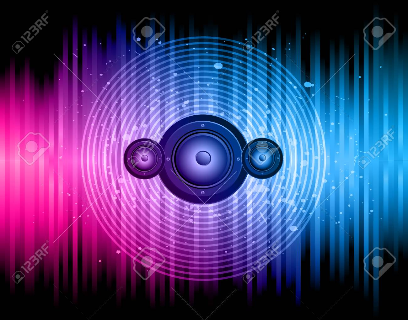 Disco club flayer with colorful elements. Ideal for poster and music background. - 106866954