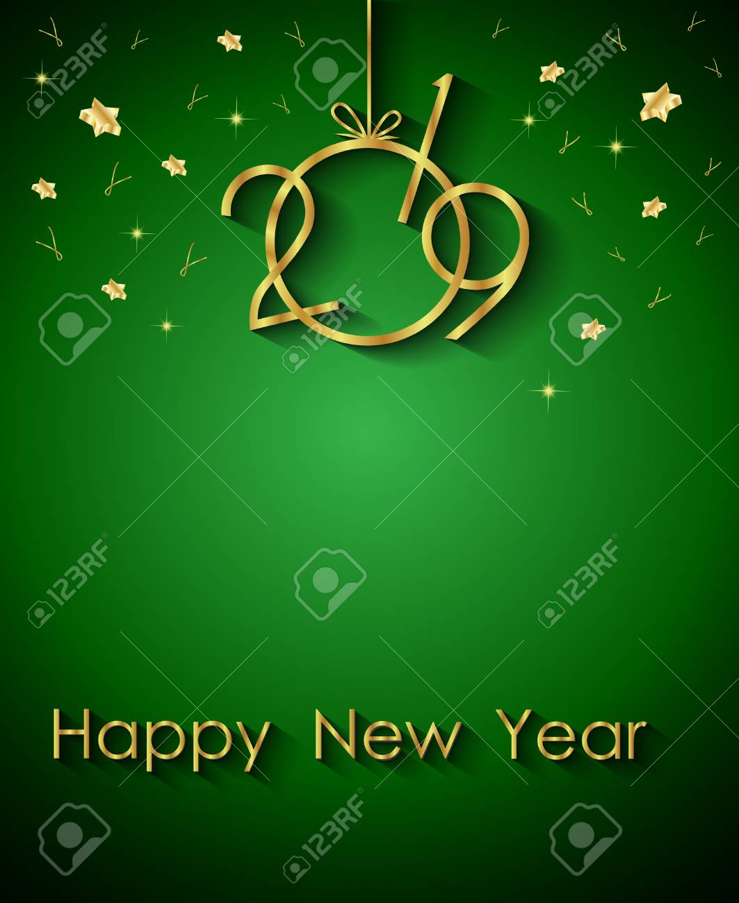 2019 happy new year background for your invitations festive posters greetings cards stock