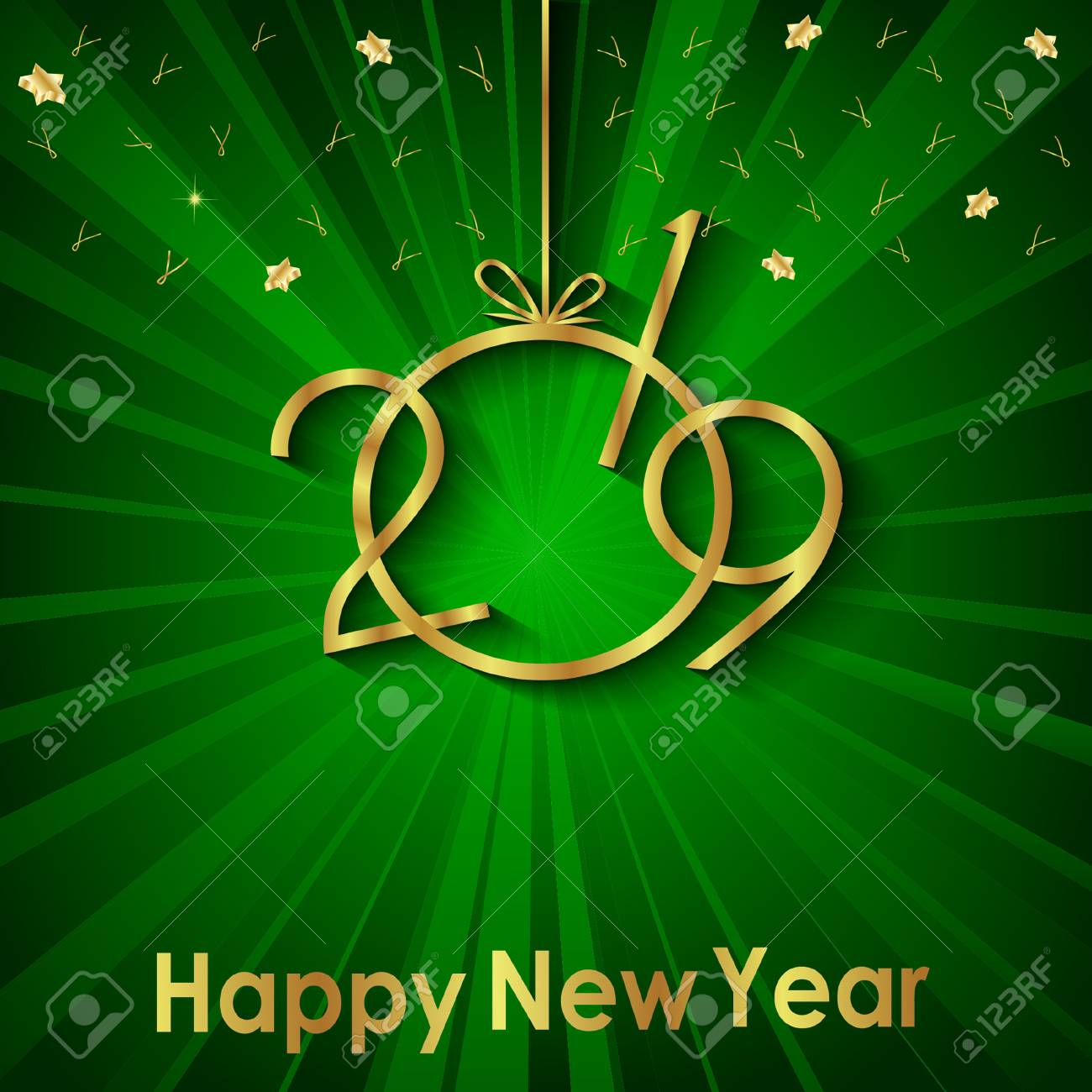 2019 Happy New Year background for your invitations, festive posters, greetings cards. - 108860664