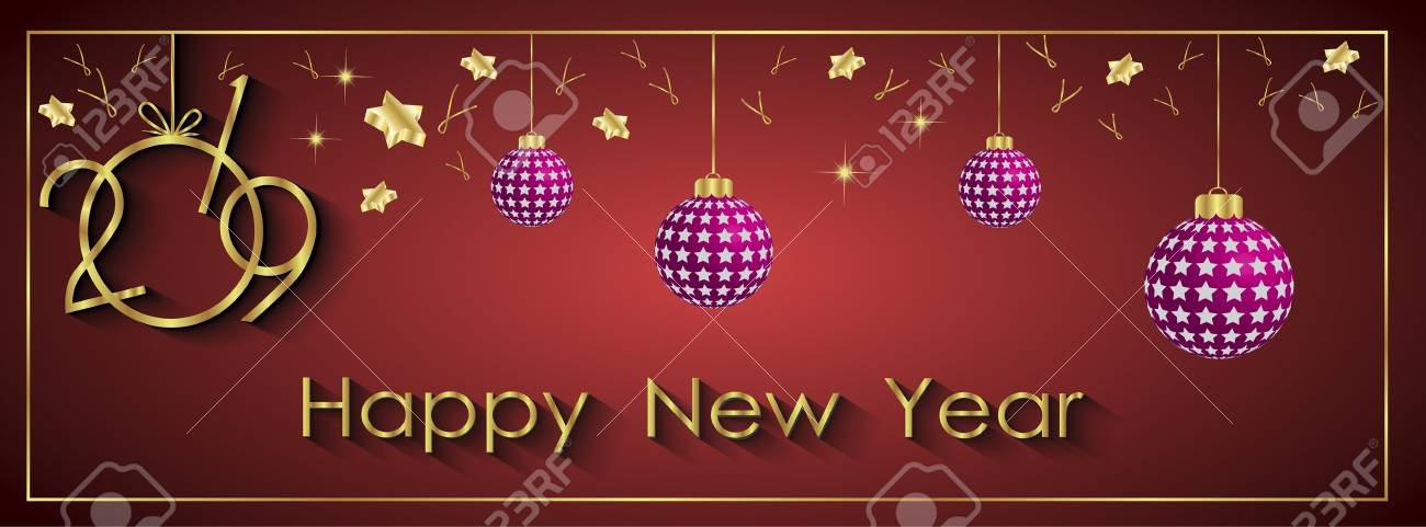 2019 Happy New Year Seasonal Background For Your Invitations