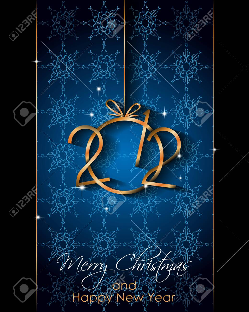 2021 Happy New Year background for your seasonal invitations, festive posters, greetings cards. - 154042667