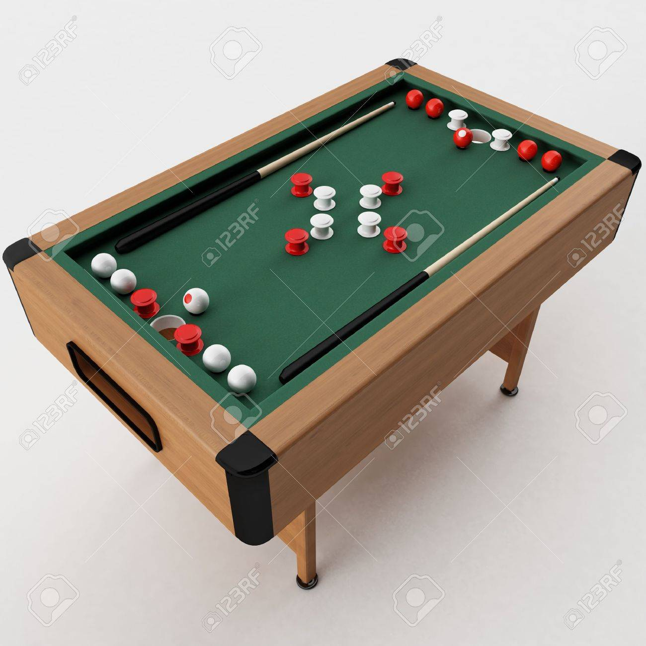 D Rendering Of A Bumper Pool Table Stock Photo Picture And Royalty - English pool table