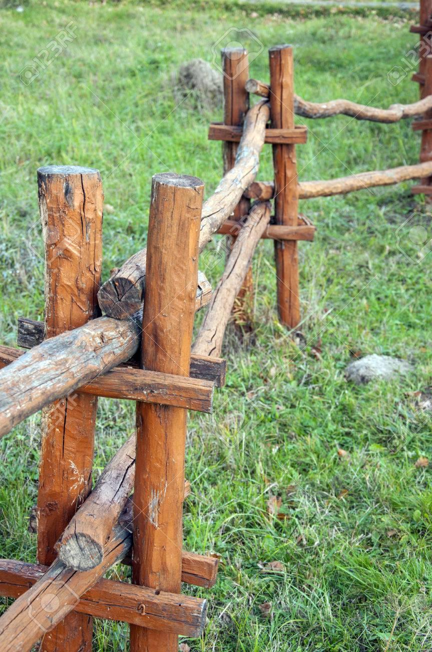 Zaun Holz Holzern Alt Ranch Rau Baum Platten Barriere