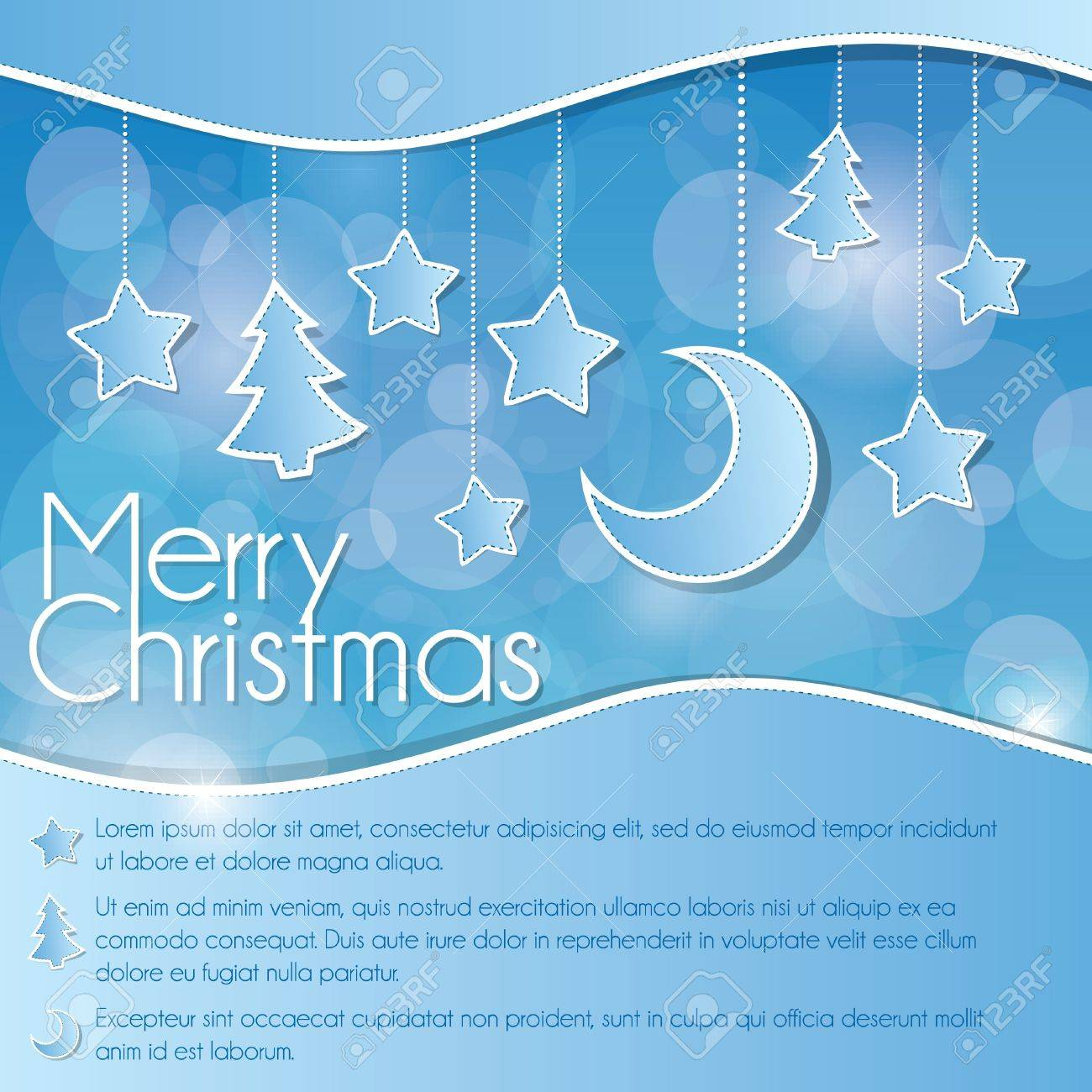 Blue Christmas card Stock Vector - 11310135