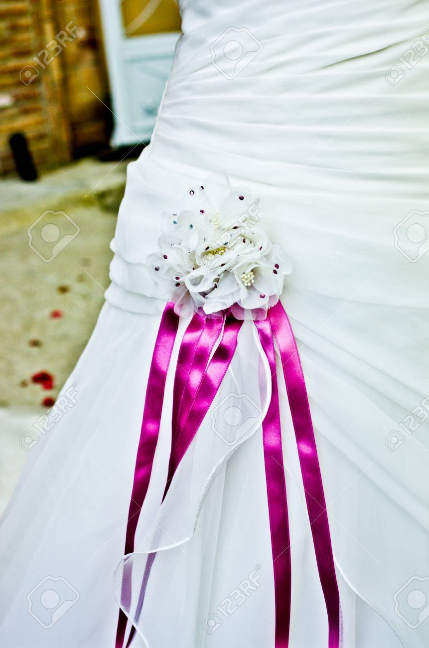 Pink And Purple Flowers And Ribbons To Close The Most Beautiful