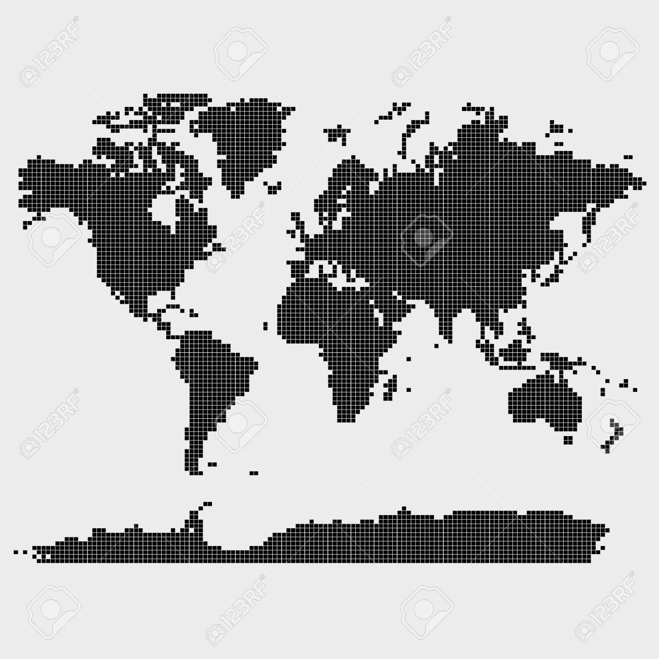 World map in squares vector 5512 squares elements royalty free vector world map in squares vector 5512 squares elements gumiabroncs Choice Image
