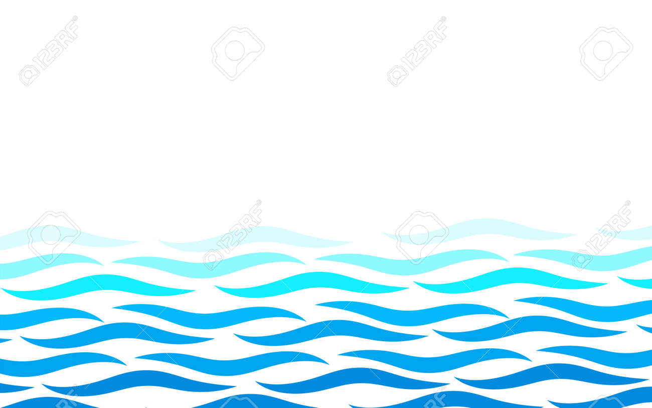 Alternating lines water blue ocean wave abstract background vector illustration - 148330418