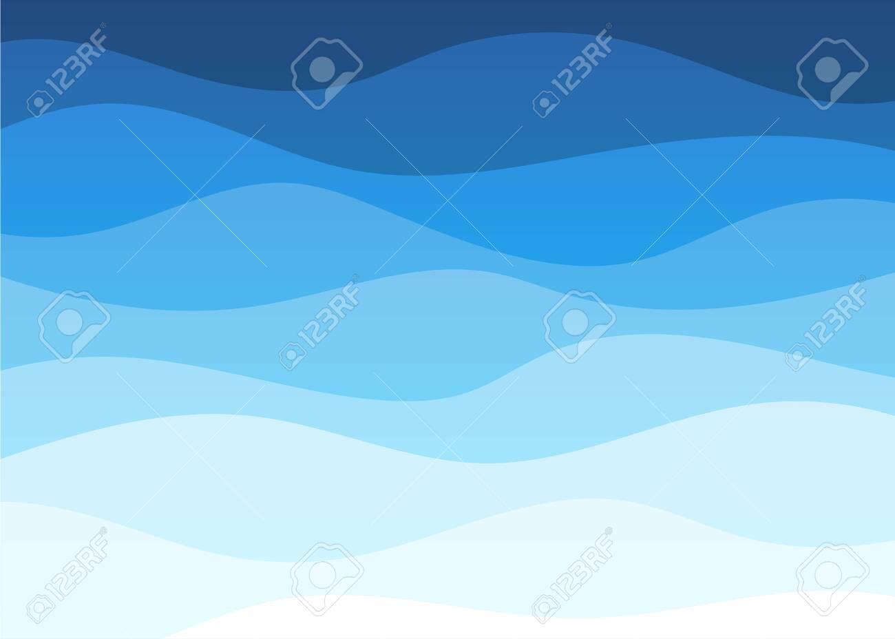 Abstract deep blue wave alternating banner vector background illustration - 148892222