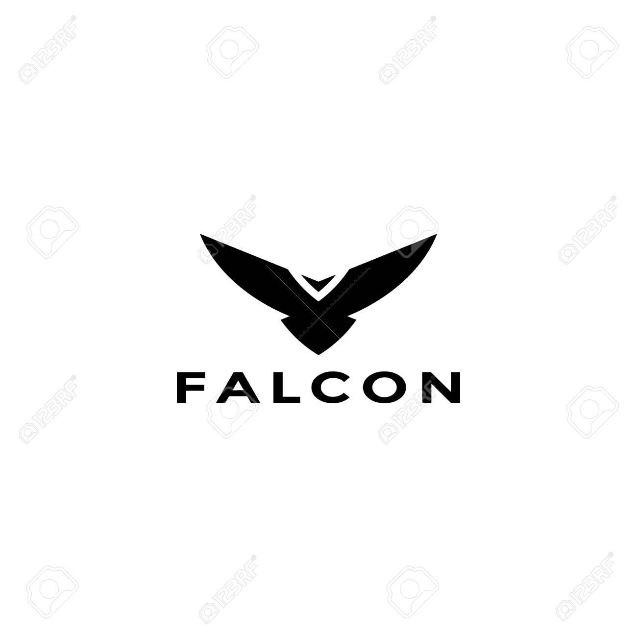 eagle logo vector design falcon logotype template hawk