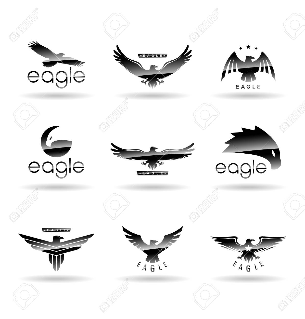 eagle logo vector concepts falcon logotype template hawk