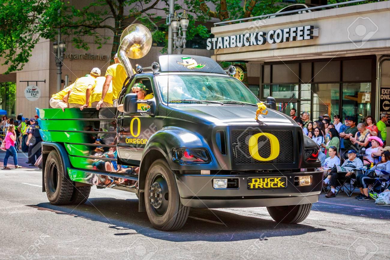 Portland, Oregon, USA - June 6, 2015: University Of Oregon Duck ...