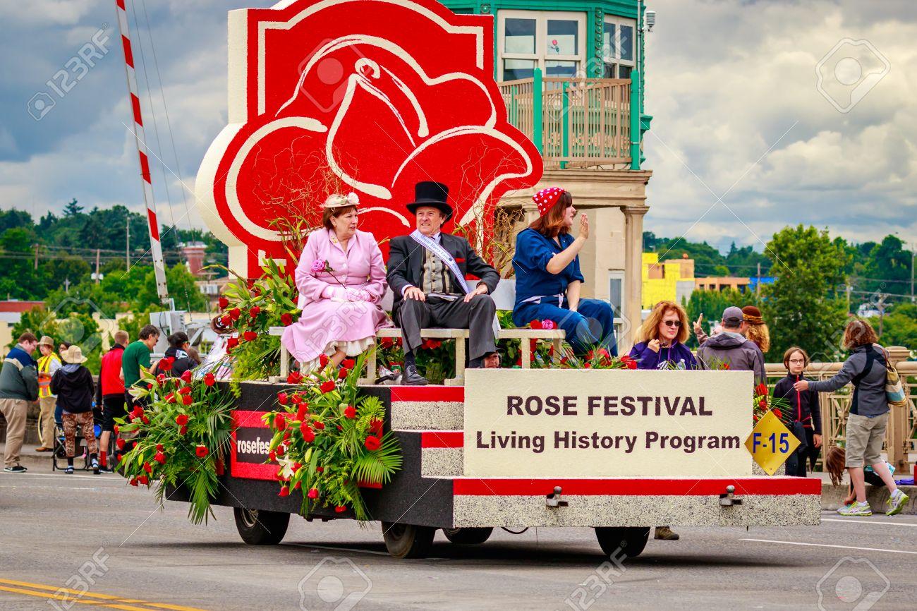 Portland, Oregon, USA   June 11, 2016: Portland Rose Festival Foundation  Float