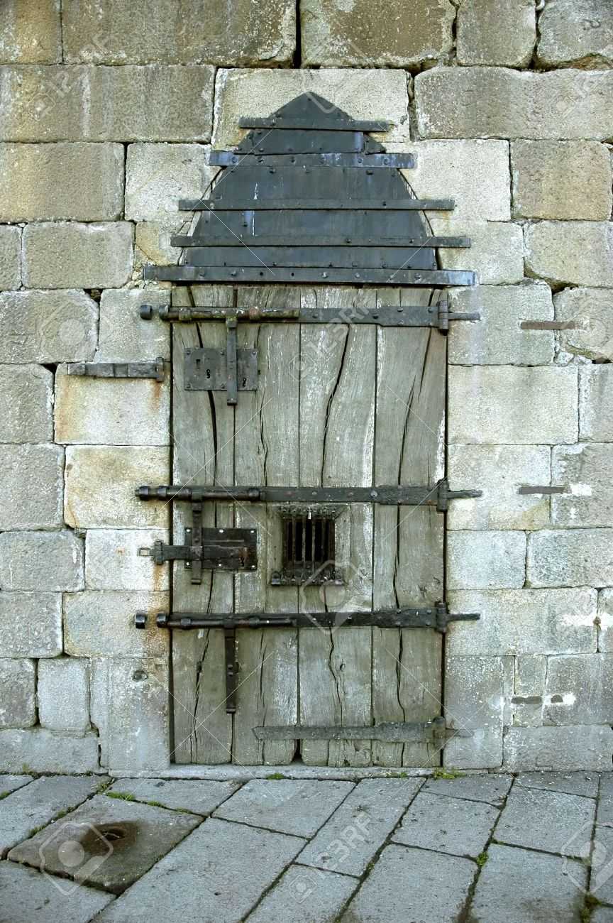 Stock Photo - Very old castle door with rusty details & Very Old Castle Door With Rusty Details Stock Photo Picture And ...