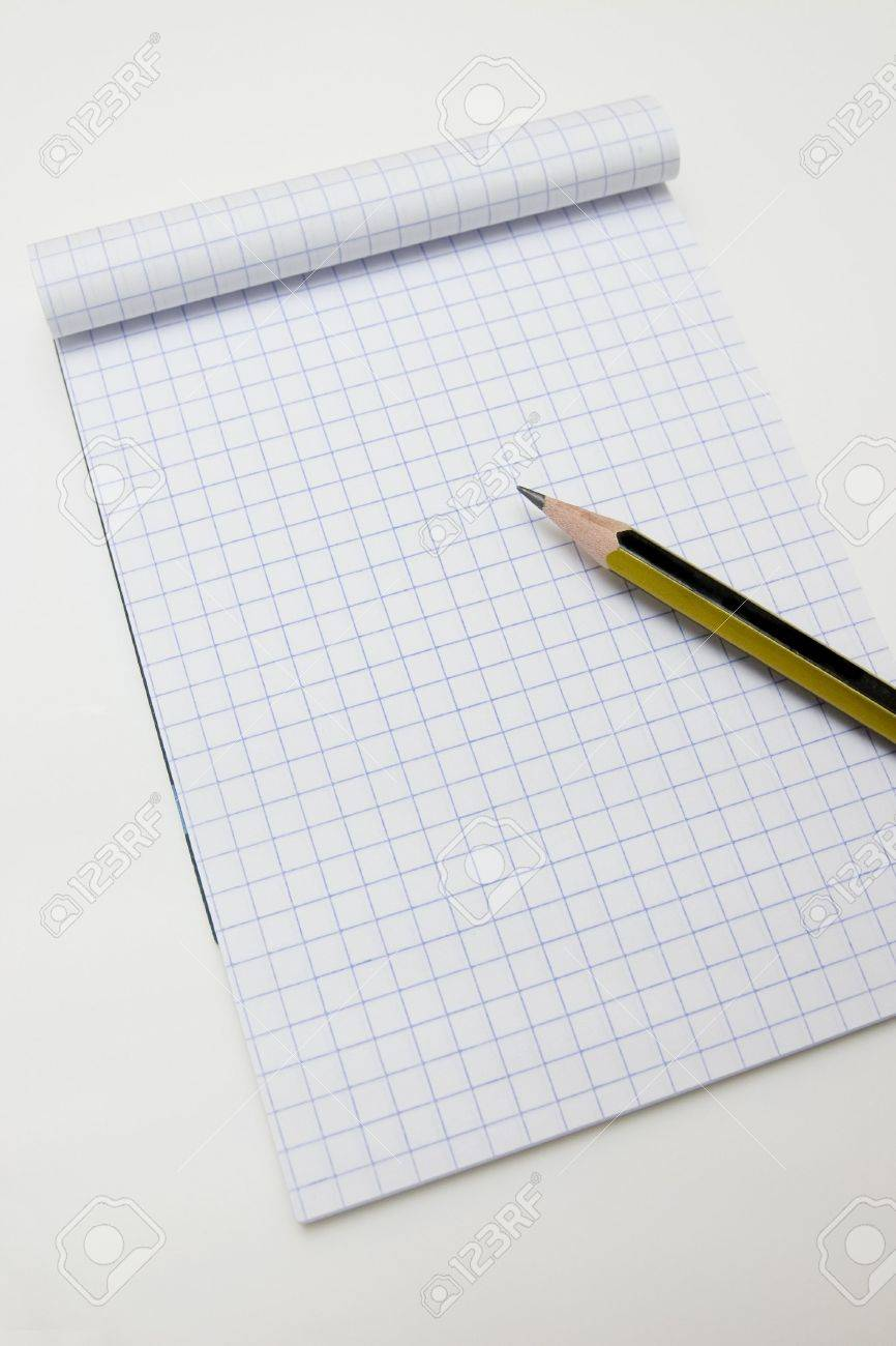 Blank math notebook ready for writing, and graphics Stock Photo - 5094615