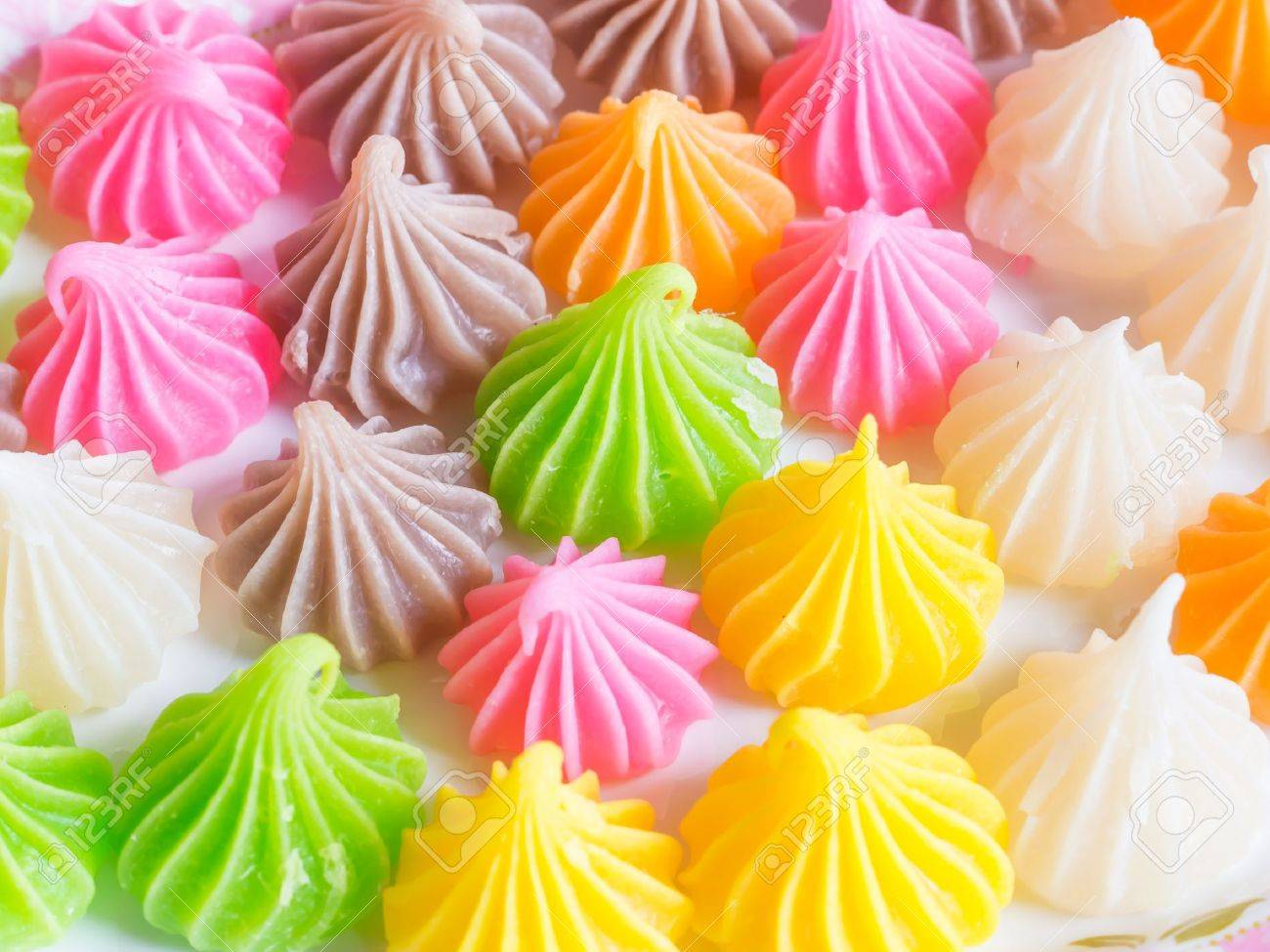 thai sweet dessert Aalaw candy made from wheat flour, chickpea..