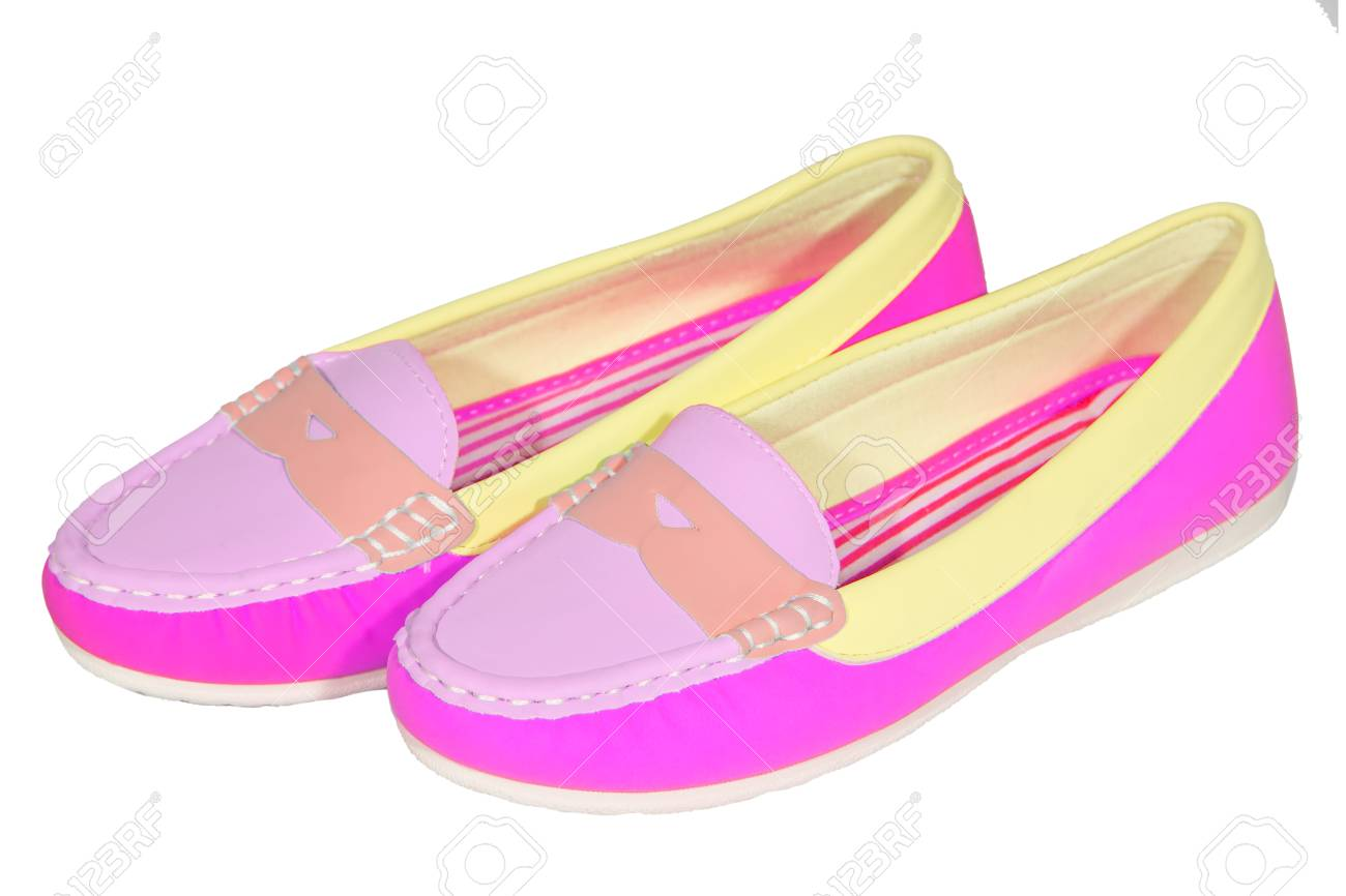 f4527f01a shoes ballet flats multicolored baby female white background isolated Stock  Photo - 36145107