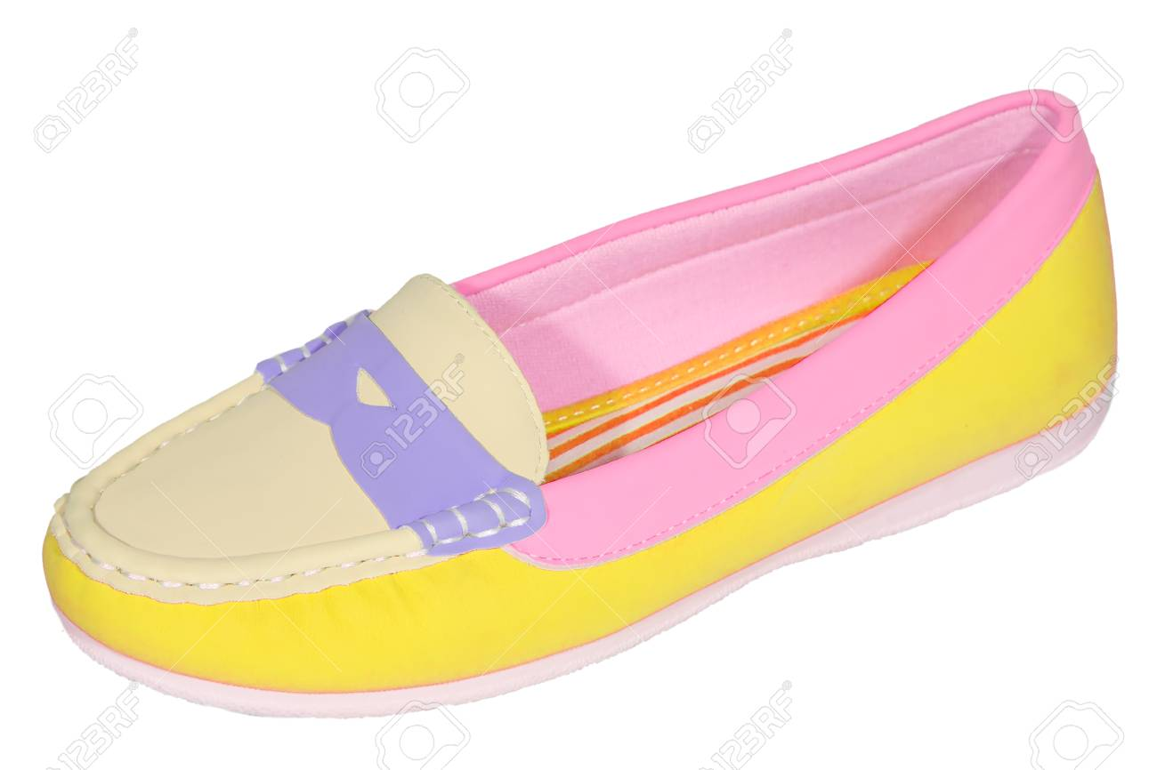 0c7372b68 shoes ballet flats multicolored baby female white background isolated Stock  Photo - 36145178