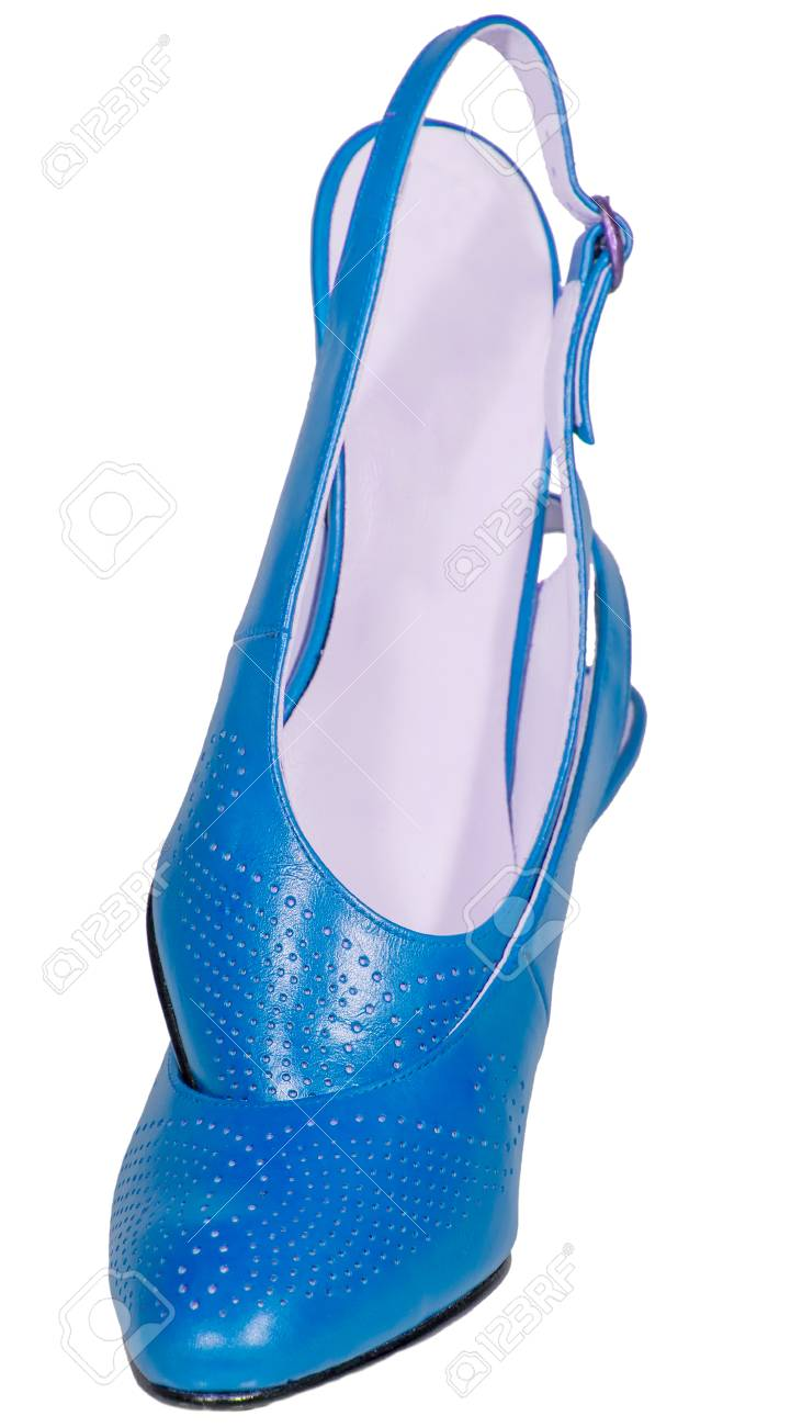 Mujeres Tacón Fondo Blanco De Zapatos Sandalias Las Azul wn80POk