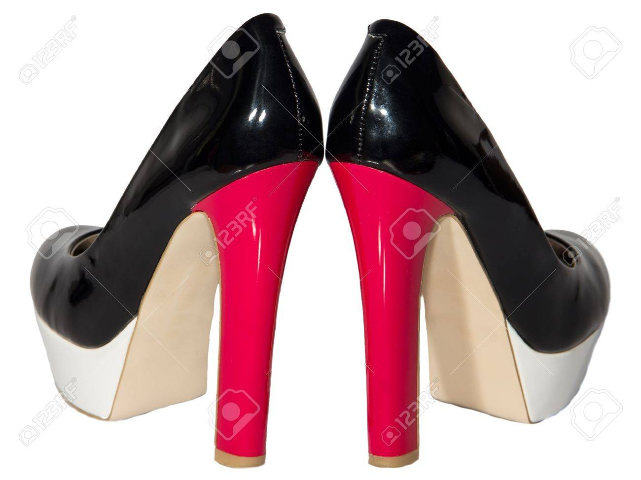 Women's Shoes Black Patent Leather Red