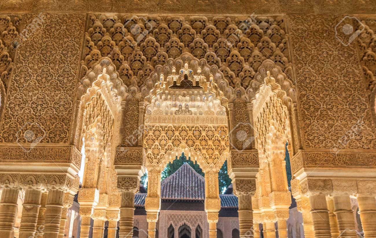 Beautiful Alhambra Palace in Granada Spain