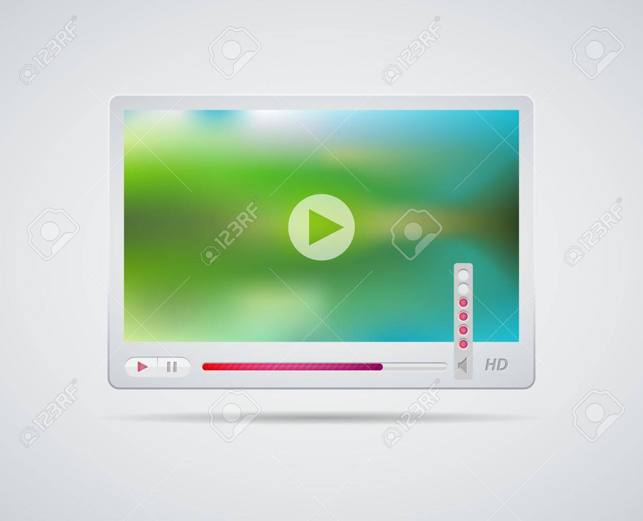 Video player interface. Vector illustration. Stock Vector - 15503581