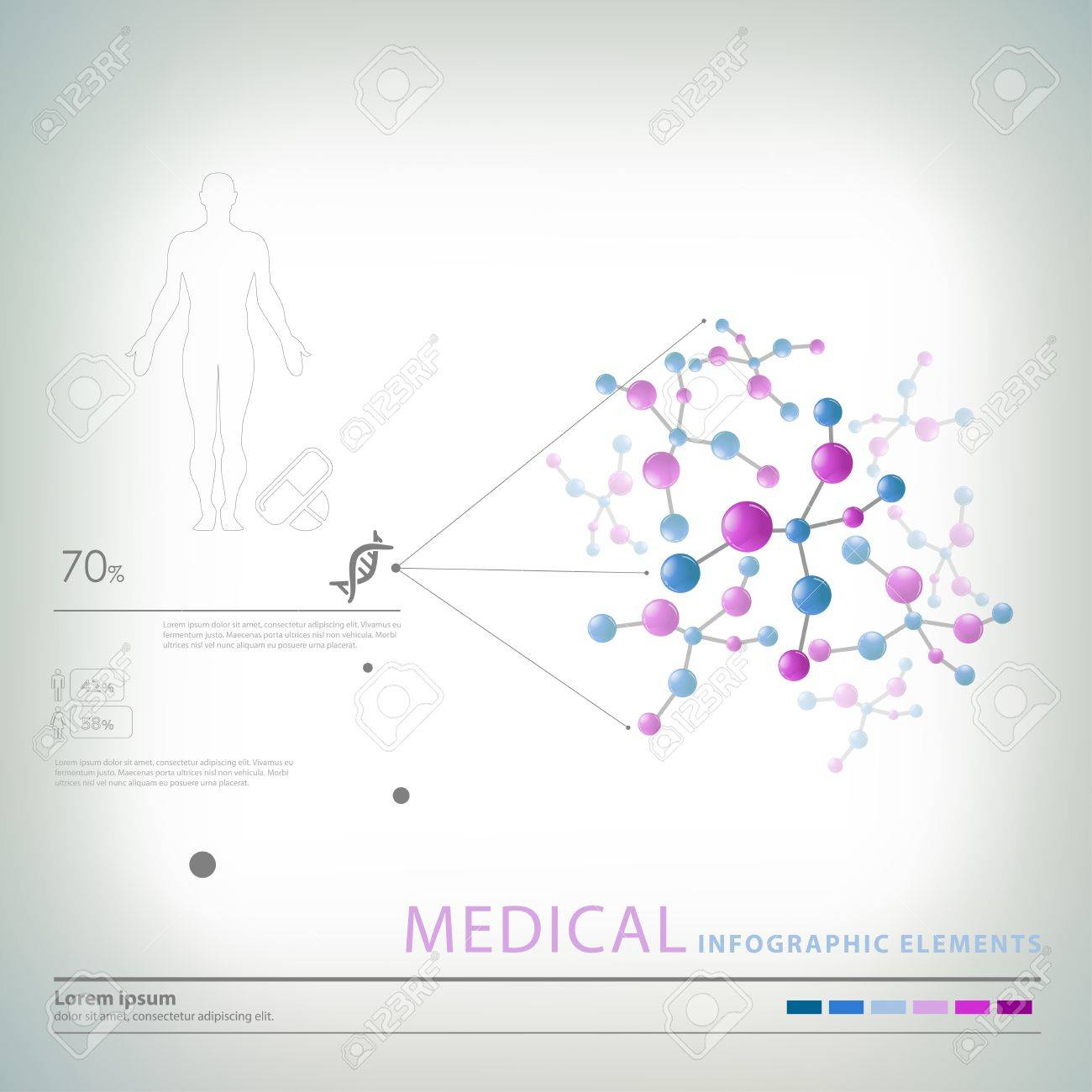medical infographic elements Stock Vector - 18930582