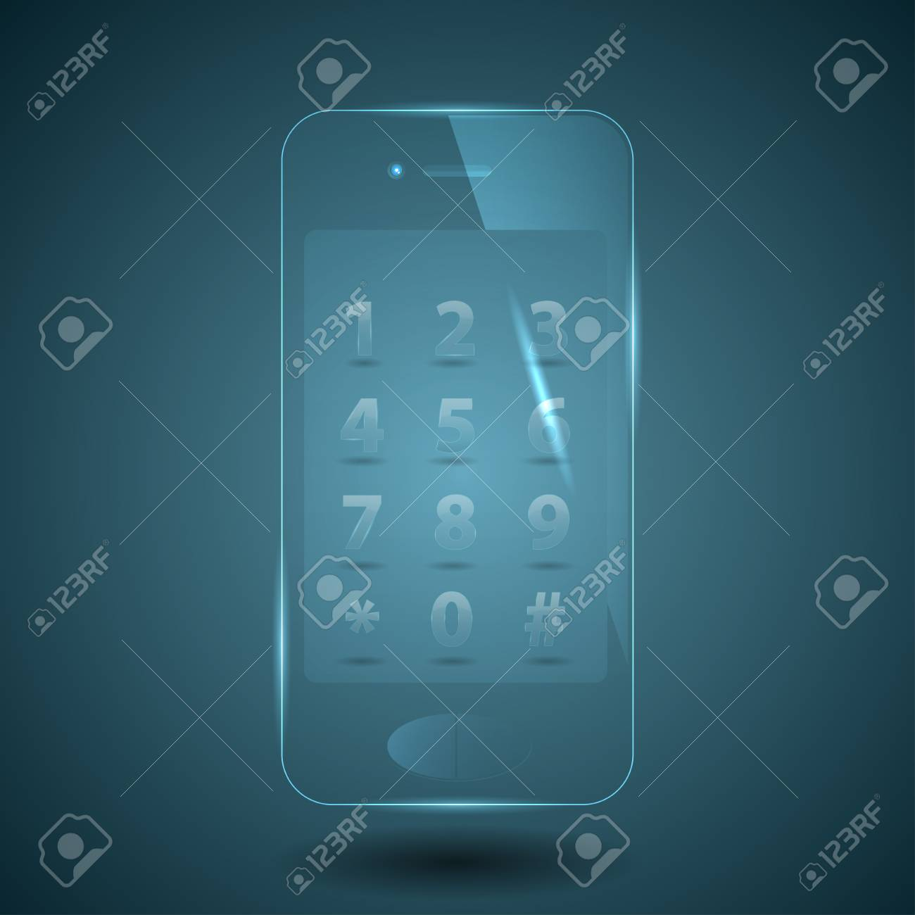 vector illustration of a glass smart phone Stock Vector - 18931032