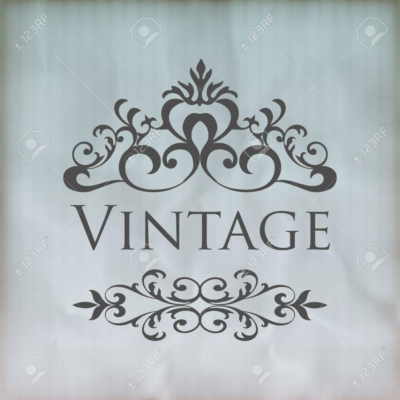 Vintage vector floral frame Stock Vector - 20244670
