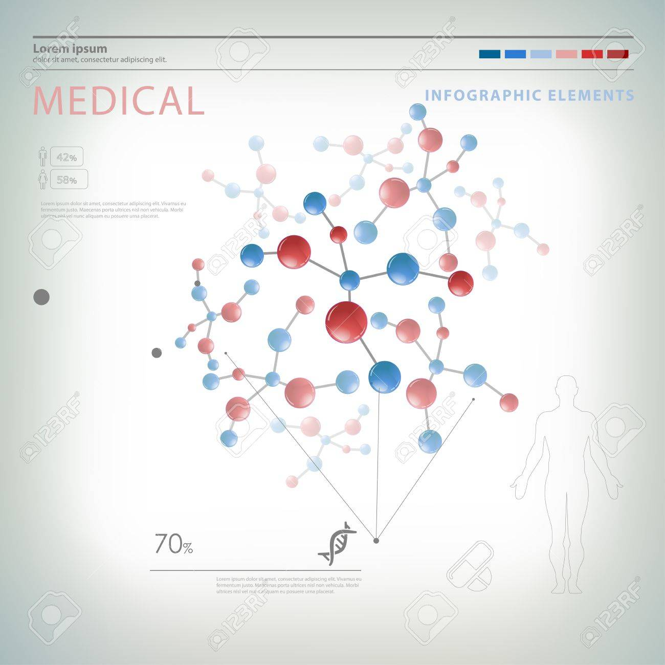 medical infographic elements Stock Vector - 20244656